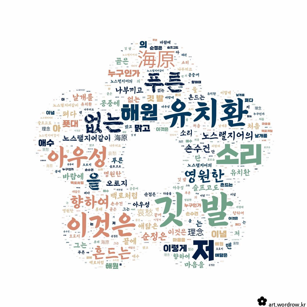 워드 아트: 깃 발 [유치환]-14